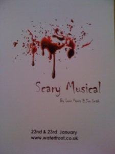 a flier for scary musical