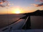 The setting sun taken from aboard the Thomspon Majesty, docked in Santa Cruz de La Palma